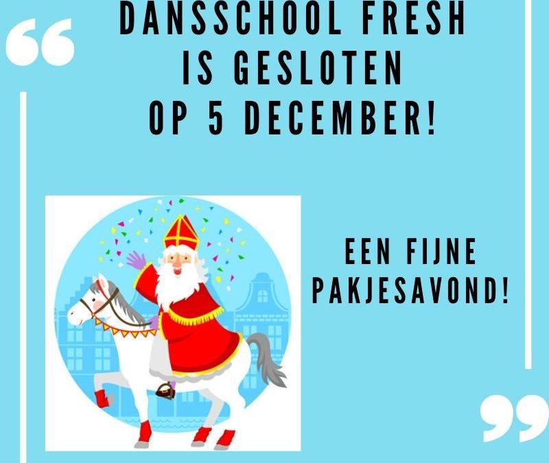 Dansschool Fresh gesloten op 5 december