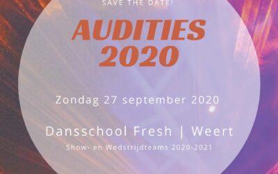 Auditie show- en wedstrijdteams Dansschool Fresh